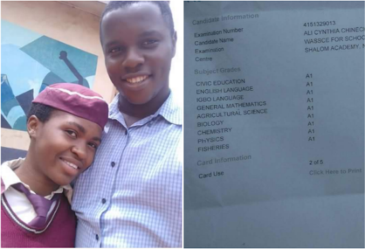 MAY/JUNE 2017 WASSCE RESULTS: ENUGU FEMALE CANDIDATE MAKES 9 A1 [PHOTO]