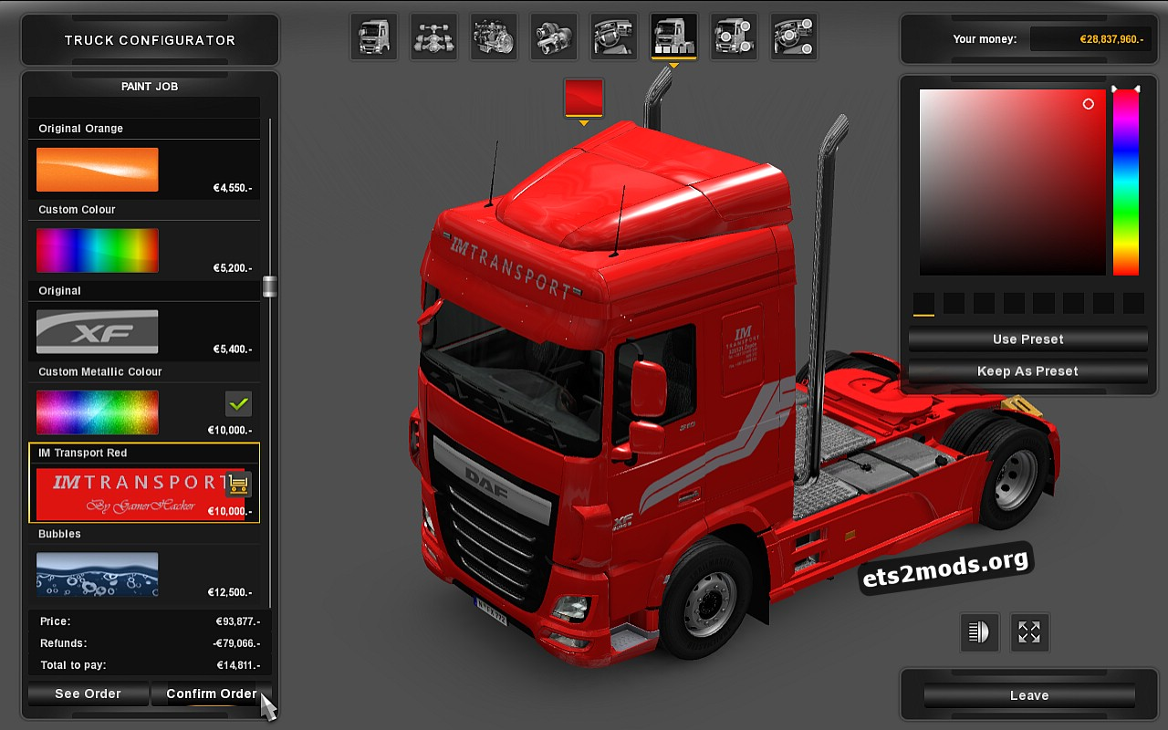 IM Transporti Skin for DAF Euro 6