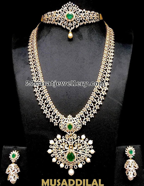 Diamond Long Set 2 in 1 Choker by Musaddilal