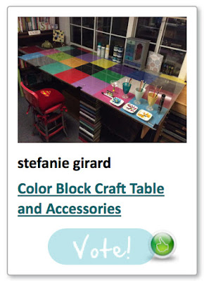 Color block craft table stefanie girard