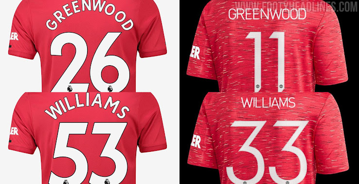 Manchester United Announce New Kit Numbers For Greenwood And Williams No 7 Still Free Footy Headlines