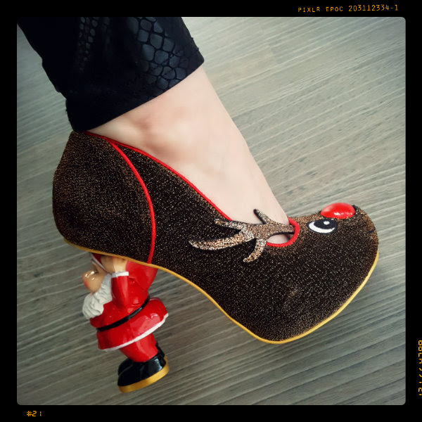wearing irregular choice santa's ninth shoe