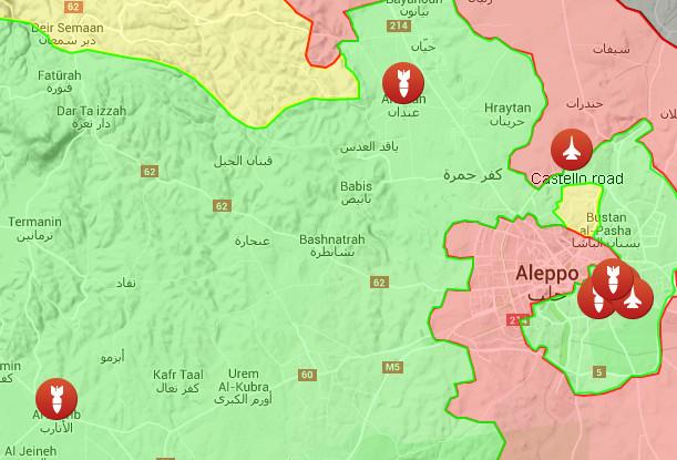serangan udara di Aleppo