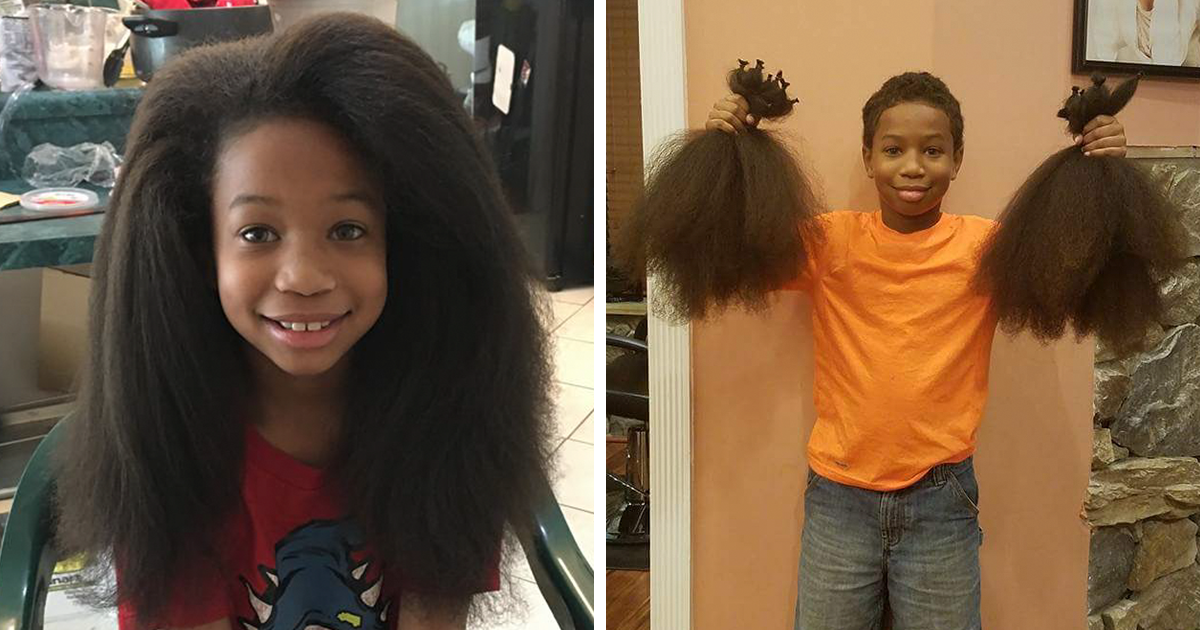 This 8-Year-Old Boy Spent 2 Years Growing His Hair To Make