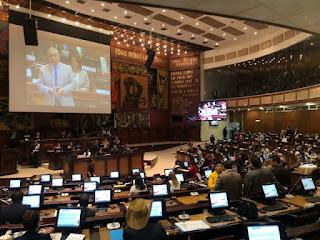 Asamblea Nacional de Ecuador reconoce a Juan Guaidó como presidente