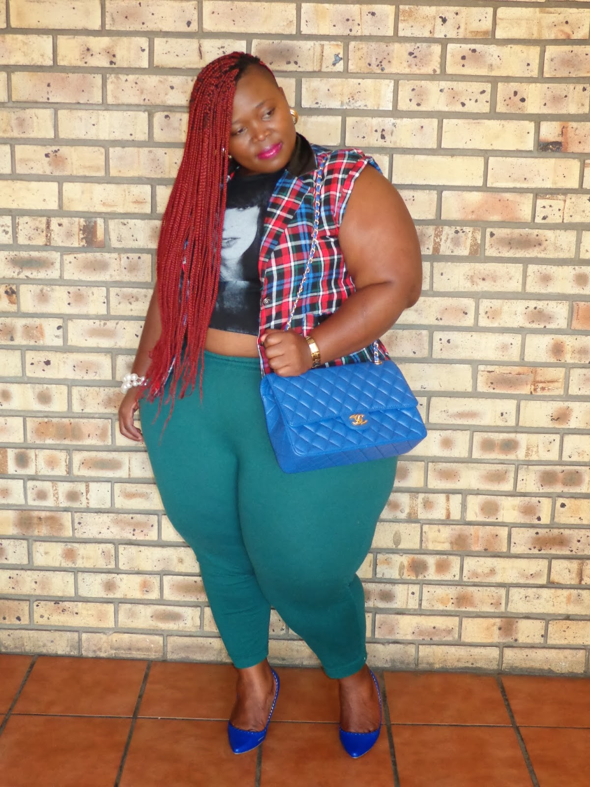 Thick Fit And Fabulous Curves Around The World Plaid Tarta