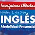 Inscripciones abiertas para los niveles obligatorios de inglés modalidad presencial
