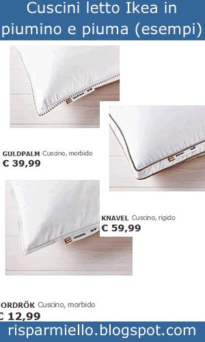 Risparmiello ikea cuscini letto prezzi economici for Ikea cuscini letto