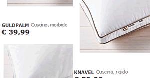 Ikea Cuscino Gosa Vadd.Risparmiello Ikea Cuscini Letto Prezzi Economici