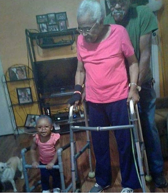 Awww, she wanted to be her granny for Halloween (photo)
