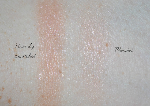 Benefit Rockateur Boxed Blusher Swatched on pale skin