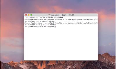Cara Show hidden files di MacOS X untuk menampilkan file yang tersembunyi di MacOS X