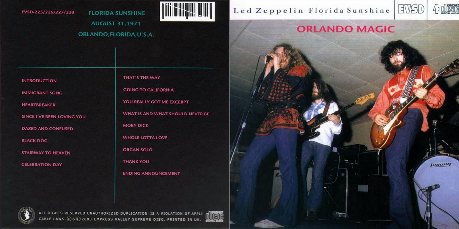 T U B E : Led Zeppelin - 1971-08-31 - Orlando, FL (SBD/FLAC)