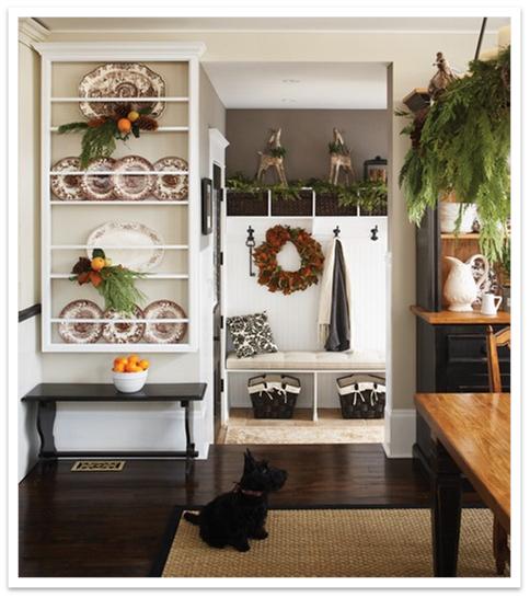 A Serene Life For Me: Christmas Mud Room Inspiration