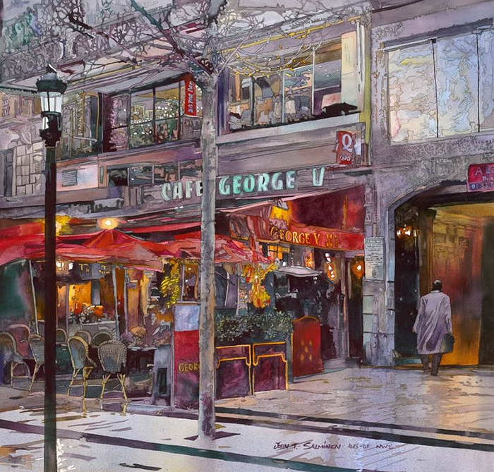 15-Paris-Cafe-John-Salminen-Watercolor-Paintings-Taking-Glimpses-into-our-Life-www-designstack-co