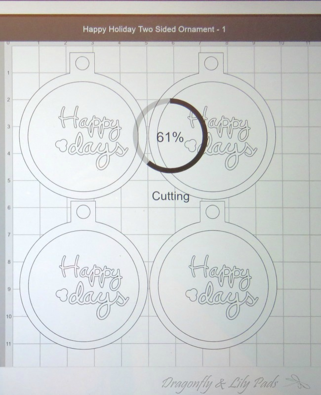 Cutting Christmas Ornament Design with Cricut