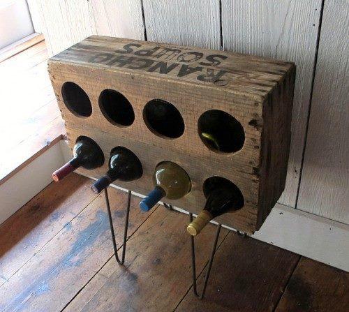 reutilizar caixotes de madeira porta vinho
