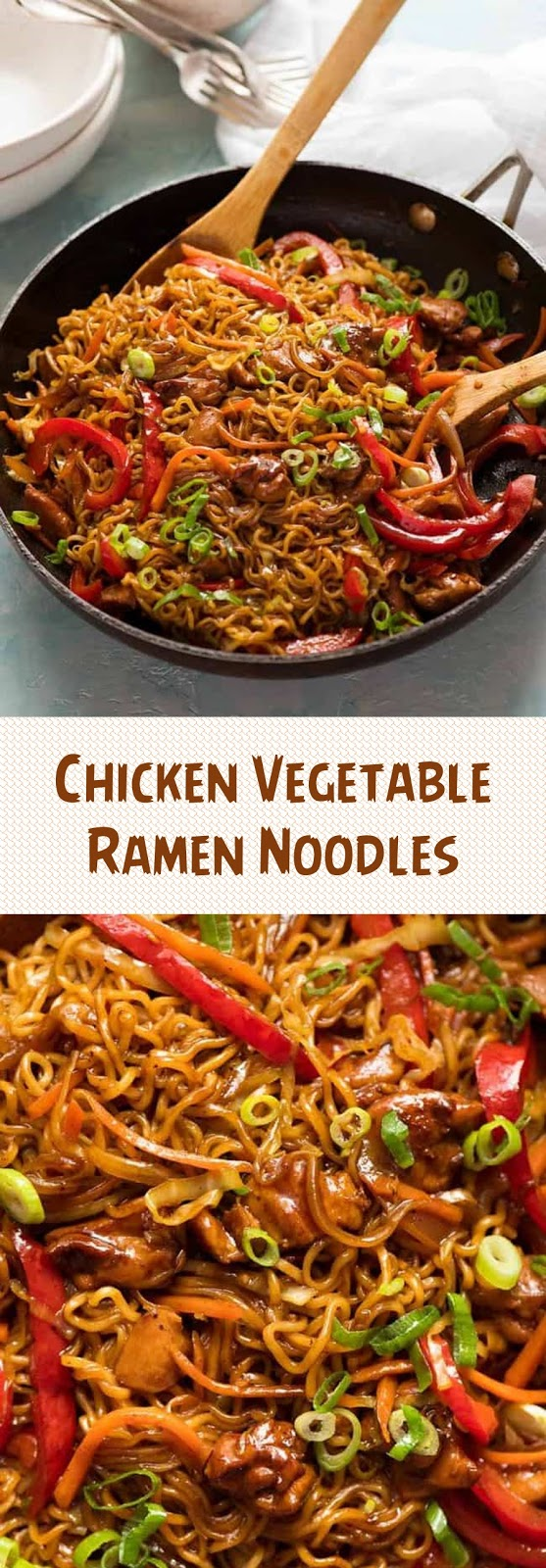 Chicken Vegetable Ramen Noodles