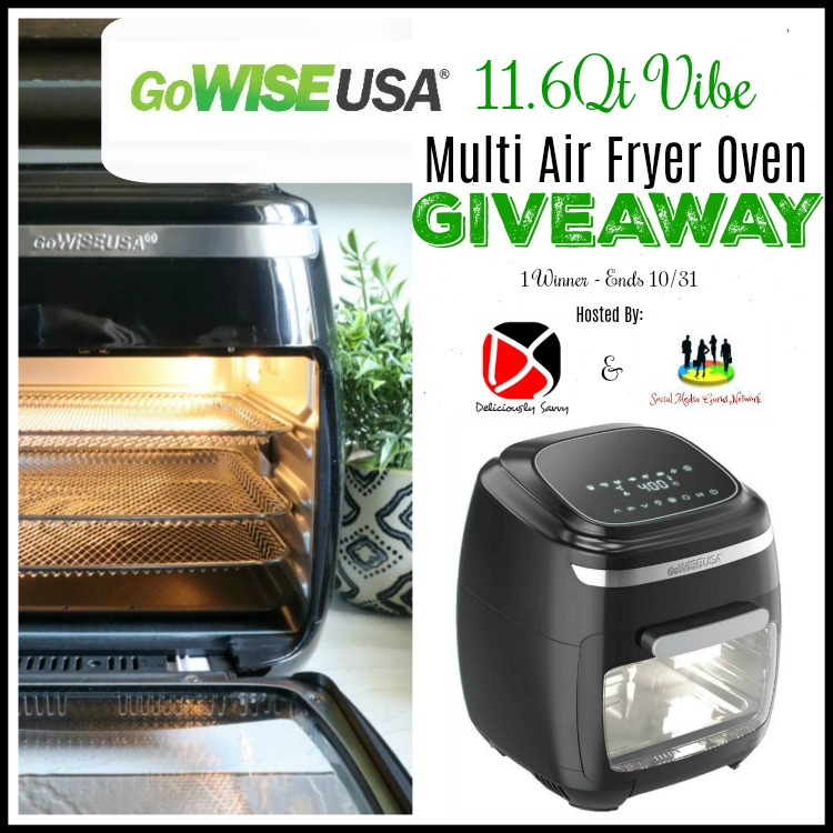 GoWISE USA 11.6Qt Vibe Multi Air Fryer Oven Giveaway!