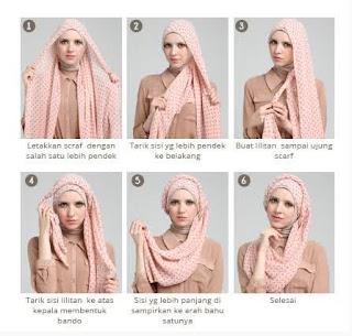 Tutorial hijab scarf segi empat modern