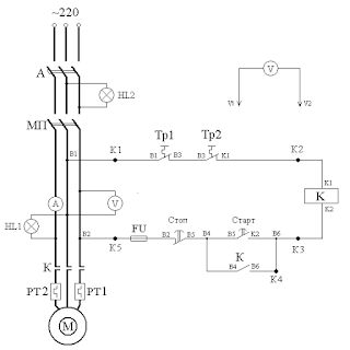 Принципиальная схема лабораторной установки