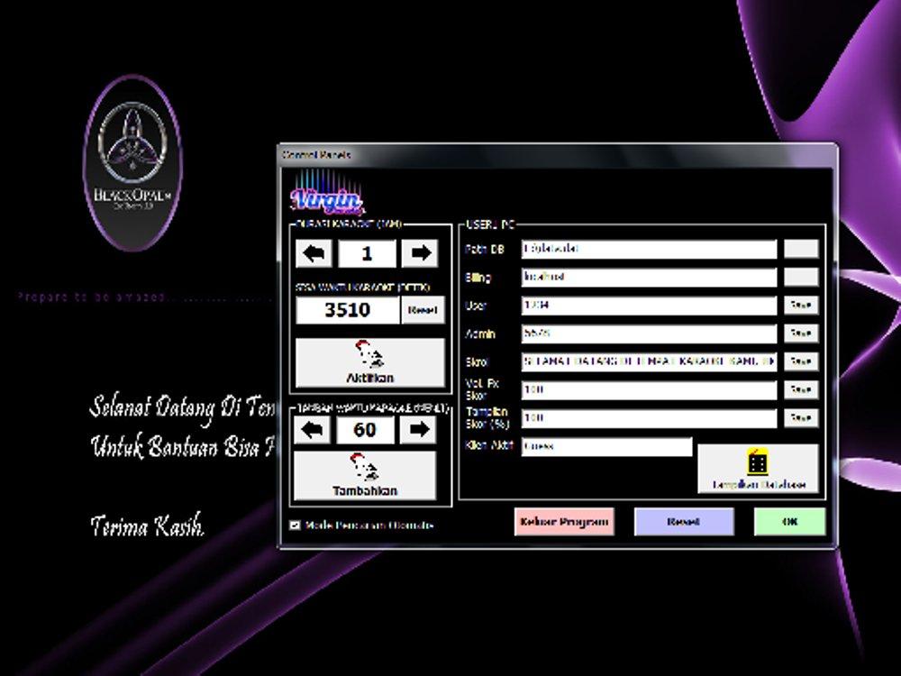 Virgin karaoke home & bisnis - Demo