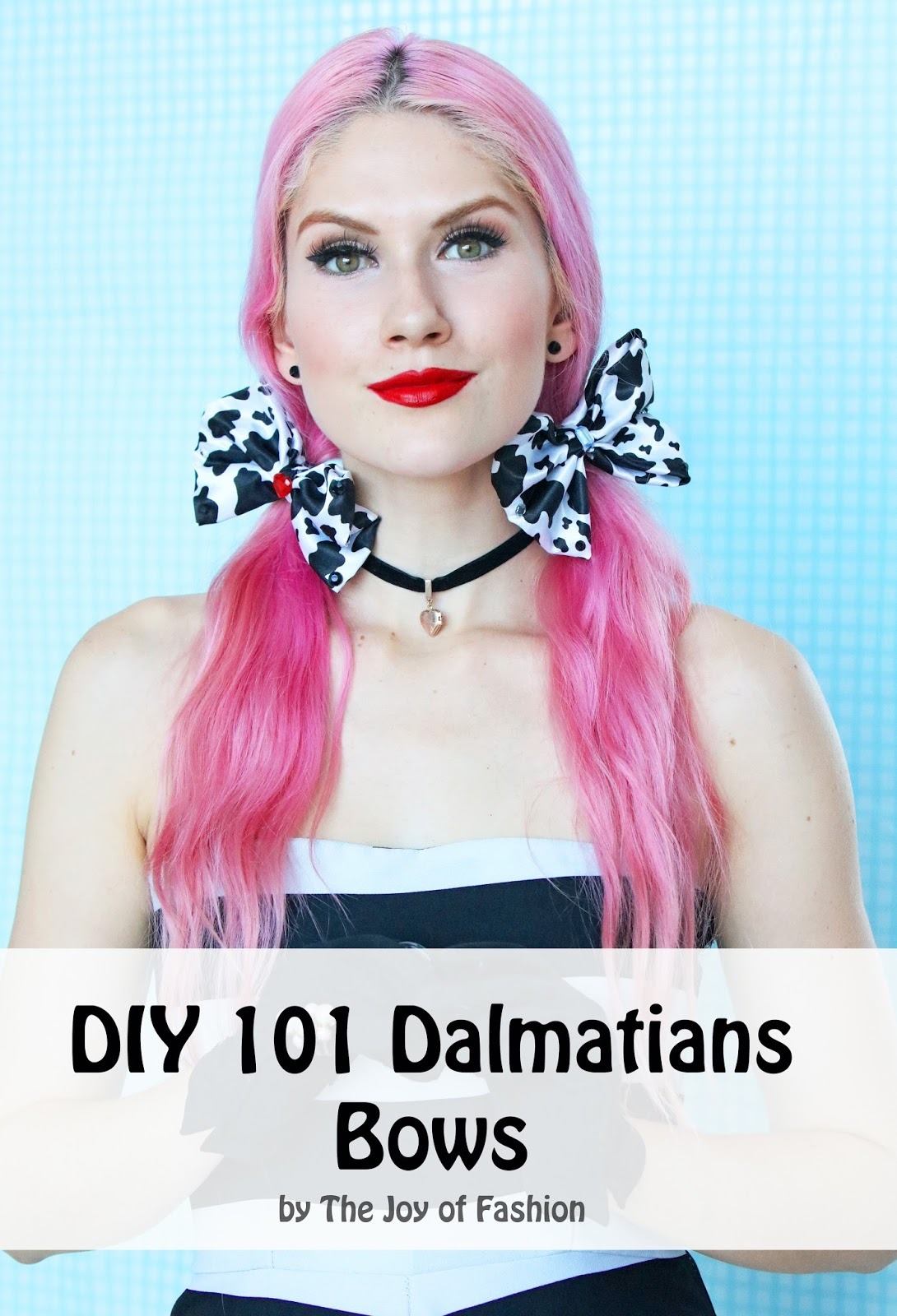 DIY 101 Dalmatians Hair Bows