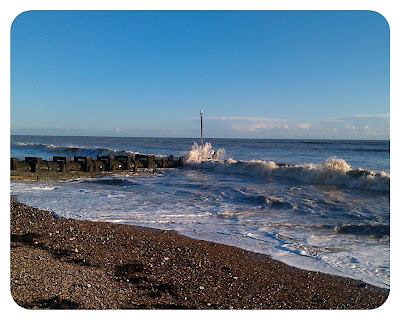 Worthing beach after storm