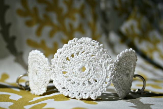 Pulsera-Brazalete Circulos de Crochet
