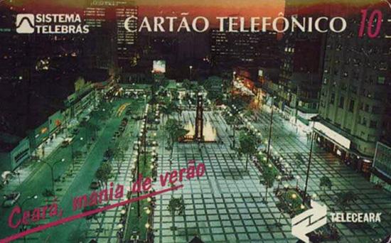 Cartão telefônico - Teleceará - Praça do Ferreira