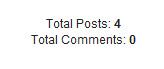 Widget Total Posts dan Total Comments