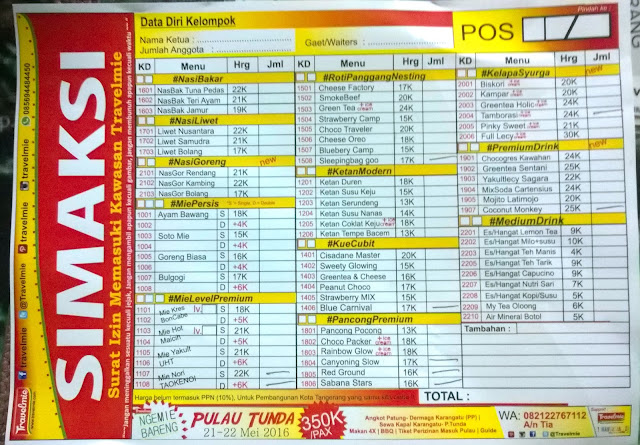 menu travel mie tangerang