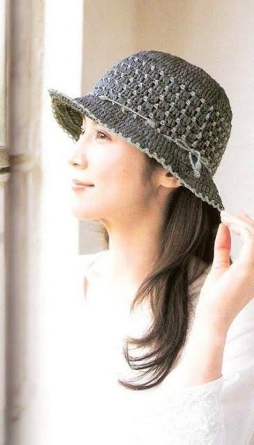 Patrón #817: Sombrero a Crochet