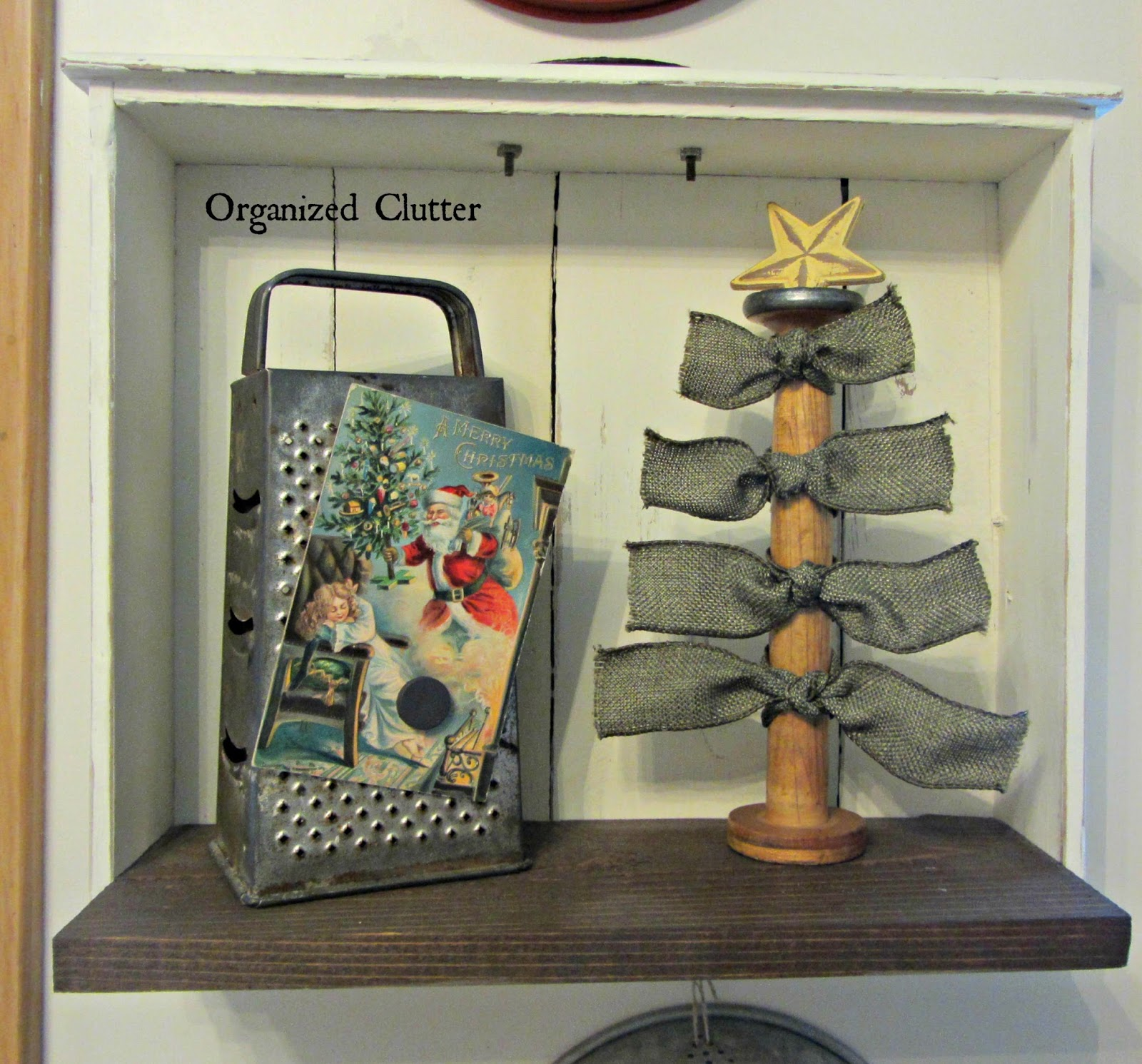Ribbon & Spool Christmas Tree www.organizedclutterqueen.blogspot.com
