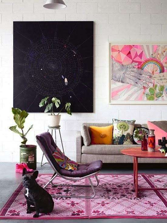 Radiant Orchid interiors