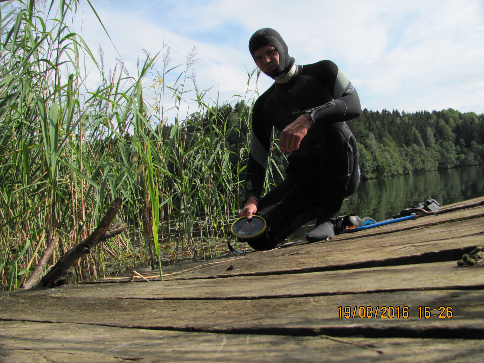 собираюсь понырять в озере