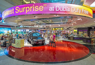 Source: Emirates. Dubai Duty Free focal display.