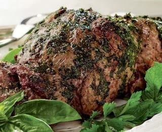 Mint Rubbed Leg of Lamb Recipe