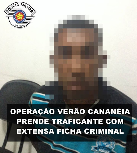 COMANDO DA OPERAÇÃO VERÃO CANANÉIA PRENDE TRAFICANTE NA PRAÇA MARTIM AFONSO