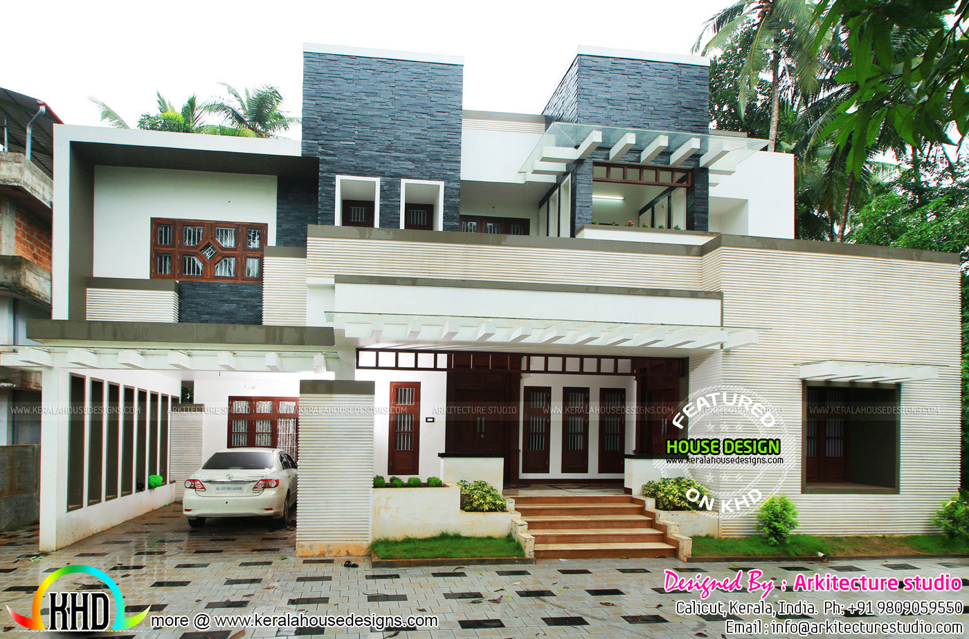 5000 sq ft house work finished kerala home design and for Modern house plans 5000 square feet