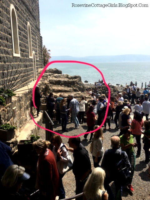 Picture of the pier in Tabgha Israel where Jesus, and the disciples had walked.