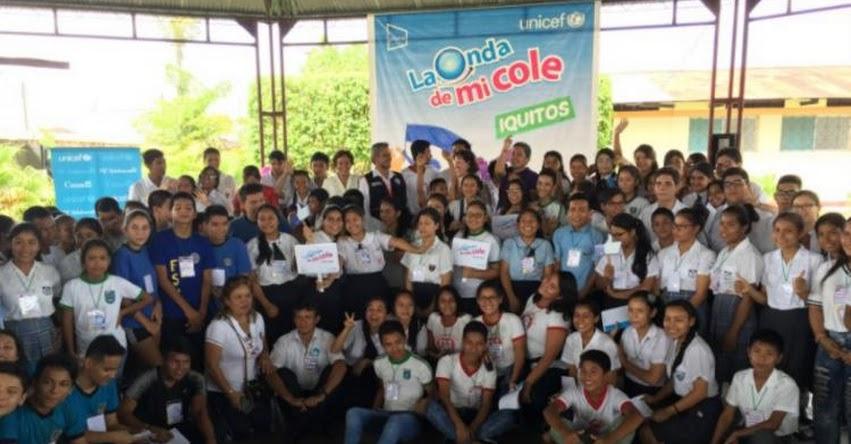 UNICEF lanza nueva edición de «La Onda de mi Cole» en Iquitos - Loreto - www.unicef.org