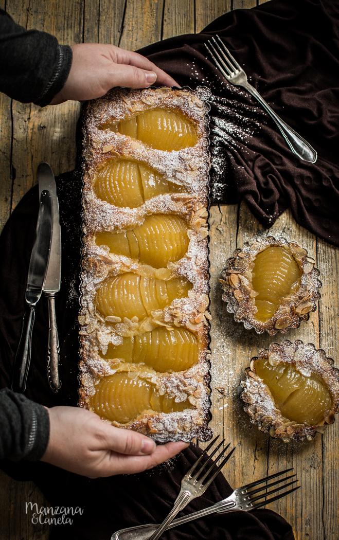 Tarta Bourdaloue: tarta de peras y crema de almendras
