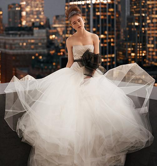 David's Bridal + Vera Wang = WHITE