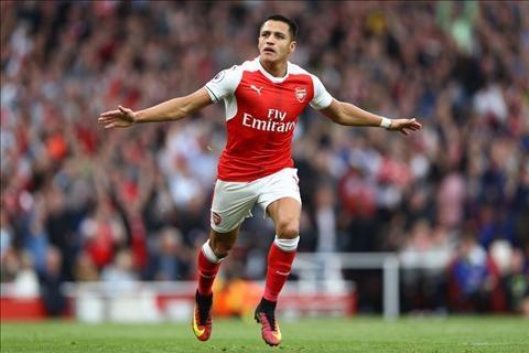 Alexis Sanchez trên sân Arsenal