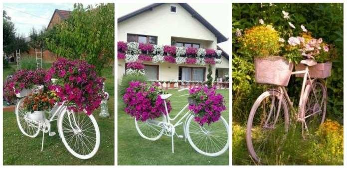 Διακοσμήστε τον κήπο σας με το παλιό σας ποδήλατο