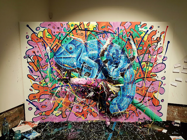 Ben Heine Art - Flesh and Acrylic - Art Truc Troc - Bozar Bruxelles - Live Performance - Chameleon 2017