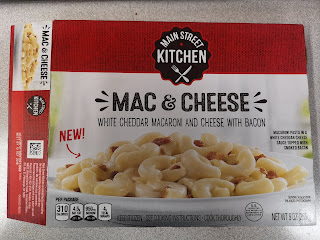 A package of Main Street Kitchen White Cheddar Mac and Cheese with Bacon, from Dollar Tree