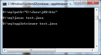 Make and Run a Java Applet Program