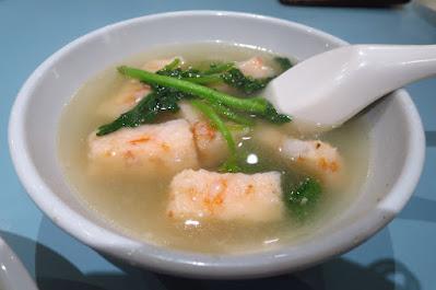 Guan's Mee Pok, prawn patty soup